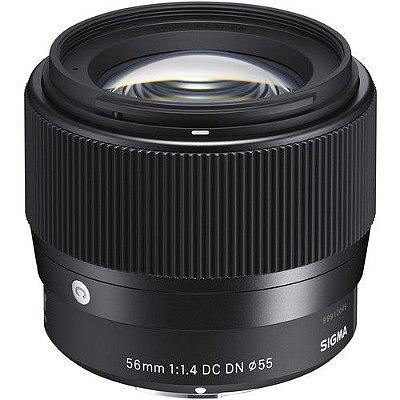 Lente Sigma 56mm f/1.4 DC DN Contemporary para Câmeras Canon EF-M