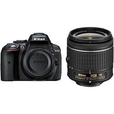 Câmera Nikon D5300 Kit com Lente Nikon AF-P NIKKOR 18-55mm f/3.5-5.6G VR