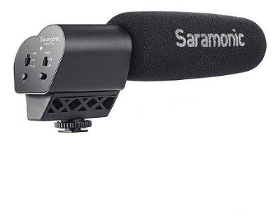 Microfone UniDirecional Saramonic Vmic ideal para o uso com Câmeras DSLR e Filmadoras