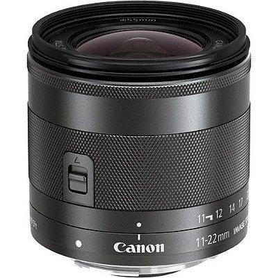 Lente Canon EF-M 11-22mm f/4-5.6 IS STM com Parasol Canon EW-60E
