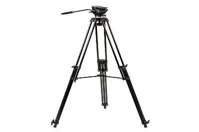 Tripé Nest NT-777 para câmeras de até 4Kg, Altura mínima: 85cm, Altura Máxima: 190cm; Peso: 2,8Kg