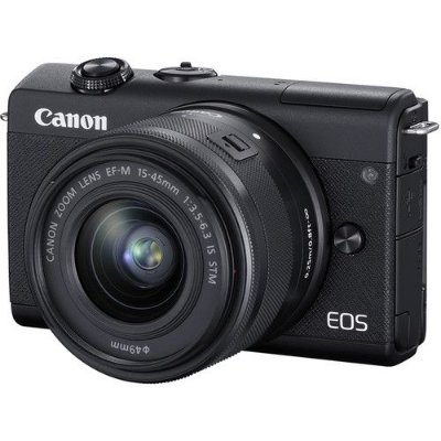 Câmera Canon EOS M200 Mirrorless Kit com Lente Canon EF-M 15-45mm f/3.5-6.3 IS STM