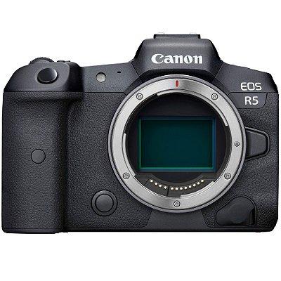 Câmera Canon EOS R5 Mirrorless Corpo com Adaptador Canon Mount Adapter EF-EOS R