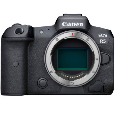 Câmera Canon EOS R5 Mirrorless Corpo com Adaptador Mount EF-EOS R