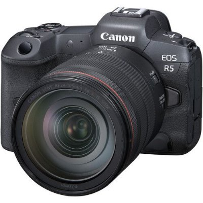 Câmera Canon EOS R5 Mirrorless Kit com Lente Canon RF 24-105mm f/4L IS USM