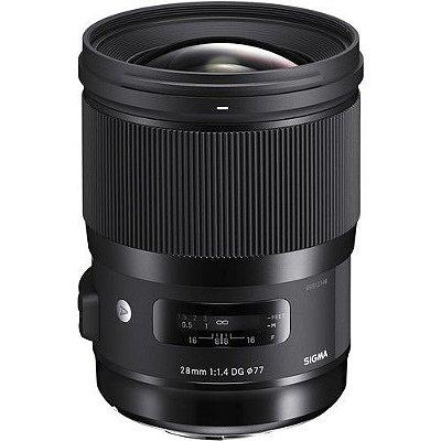 Lente Sigma 28mm f/1.4 DG HSM Art para Câmeras Canon EOS