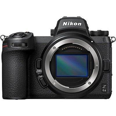 Câmera Nikon Z 6II Mirrorless Corpo com adaptador de encaixe FTZ Mount Adapter