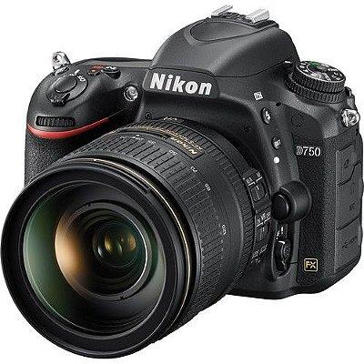 Câmera Nikon D750 Kit Lente Nikon AF-S NIKKOR 24-120mm f/4G ED VR