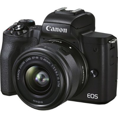 Câmera Canon EOS M50 Mark II Mirrorless Kit com Lente Canon EF-M 15-45mm f/3.5-6.3 IS STM