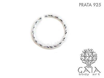 Argola Prata 925 Texturizada