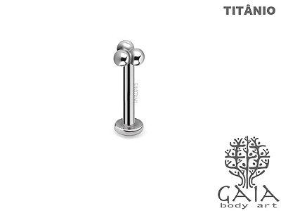 Labret Titânio Trinity