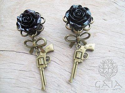 Alargador Rosa Negra + Pistola Bronze