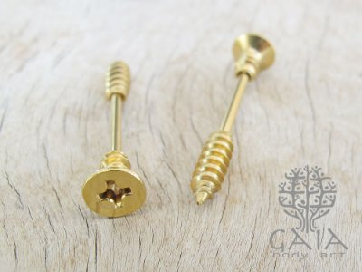 Piercing Mamilo Parafuso Dourado