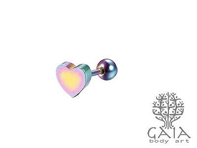 Micro Barbell Coração Furta Cor