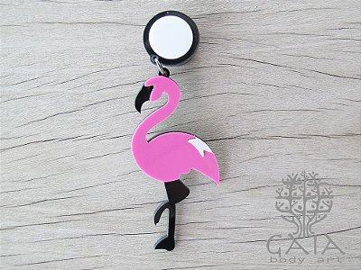 Alargador Acrílico Maxi Flamingo