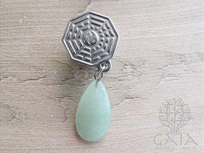 Alargador Baguá Pedra Quartzo Verde