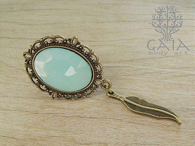 Alargador Bronze e Verde Mint