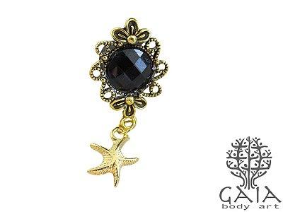 Alargador Starfish Dourado