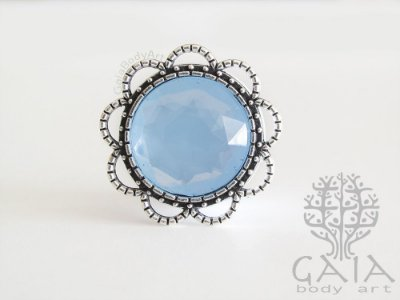 Alargador Antique Prata e Azul