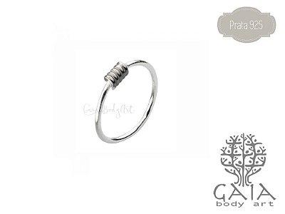 Argola Nariz Prata 925 Old Silver Spring