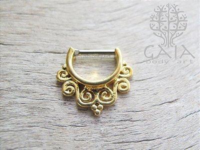 Piercing Clicker Septo Adah Dourado