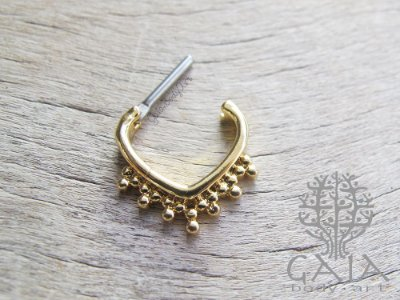 Piercing Clicker Septo Thansi Dourado