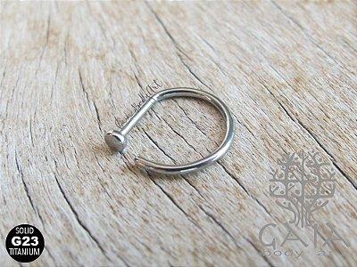 Piercing Nariz D-Ring Titânio G23