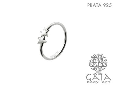 Argola Prata 925 Estrelas