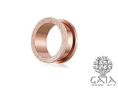 Alargador Glitter Ouro Rosa