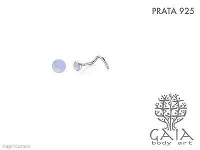 Nostril Prata 925 Opala Rosada