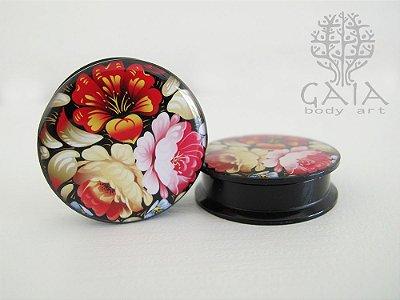 Alargador Acrílico Floral