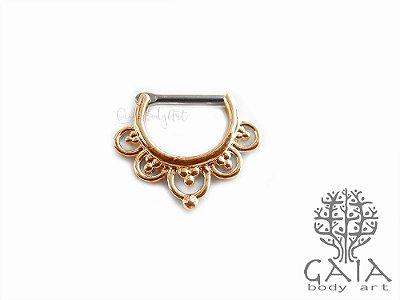 Clicker Septo Badhra Ouro Rosa
