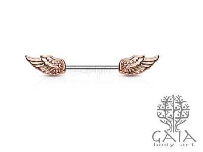 Barbell Mamilo Rose Gold Wing