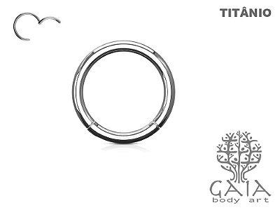 Argola Articulada Titânio