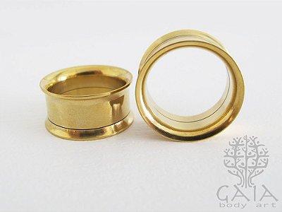 Alargador Flangeado Rosca Interna Anodizado Dourado