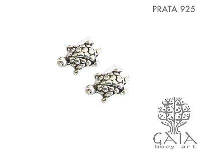 Brincos Prata 925 Tartaruga Marinha [o par]