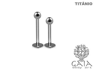Labret Titânio Esfera