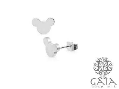 Brincos Aço Cirúrgico Mickey [o par]