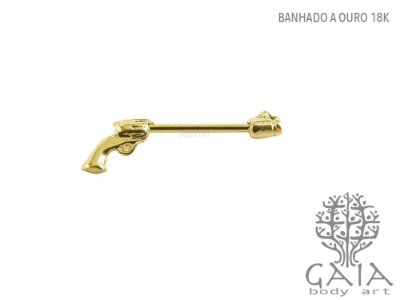 Barbell Mamilo Golden Gun