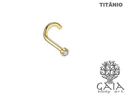 Nostril Titânio Dourado Zircônia