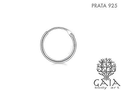 Argola Prata 925 Circle