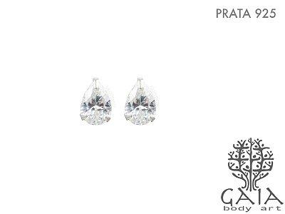Brincos Prata 925 Gotas de Cristal [o par]