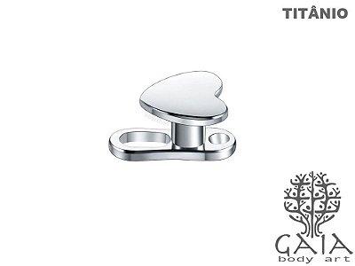 Microdermal Titânio Coração
