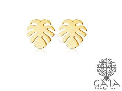 Brincos Dourados Costela de Adão [o par]