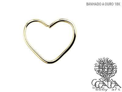 Clip Coração Banhado a Ouro