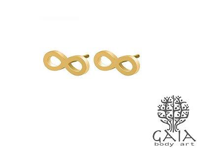 Brincos Infinito Dourado [o par]