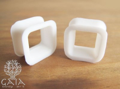 Alargador Silicone Quadrado Branco