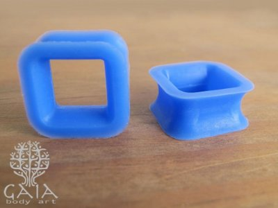 Alargador Silicone Quadrado Azul