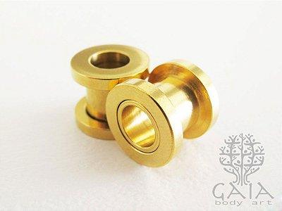 Alargador Clássico Anodizado Dourado
