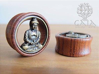 Alargador Madeira e Metal Buda